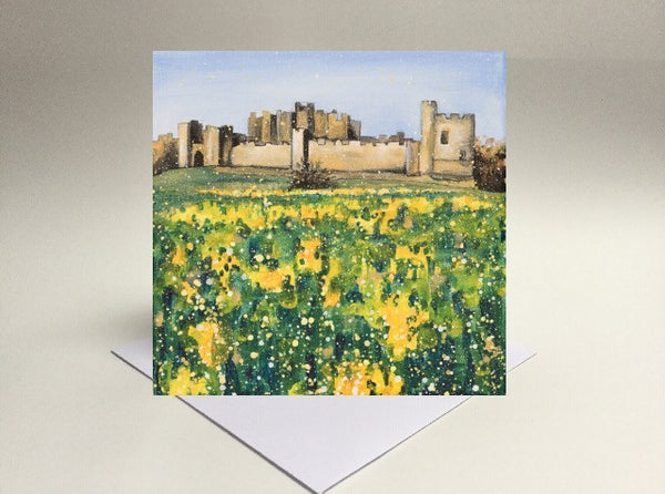 Greetings card Alnwick Castle Northumberland