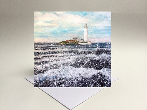 Greetings card St Mary's lighthouse Whitley bay