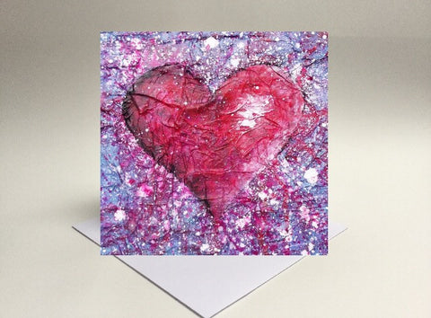 Greetings card Love purple