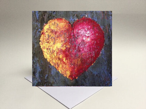 Greetings card Love gold