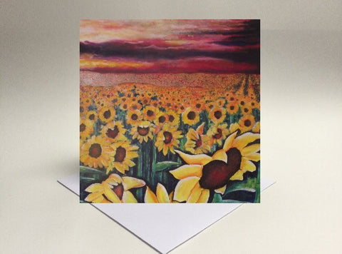 Greetings card Sunflowers