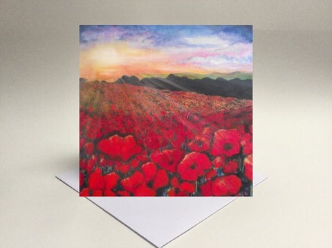 Greetings card Poppies