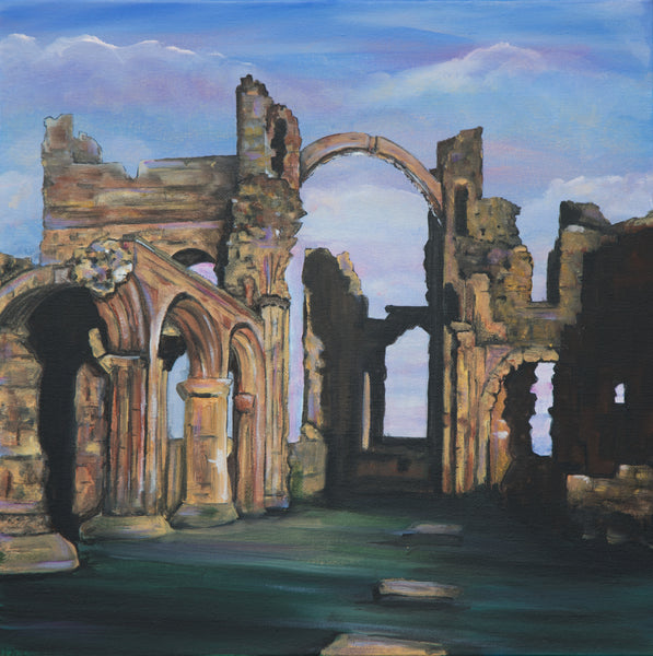 Limited edition print Lindisfarne Priory Northumberland
