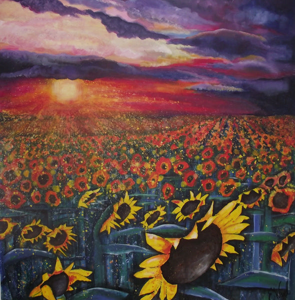 Limited edition print Sun on the sunflowers
