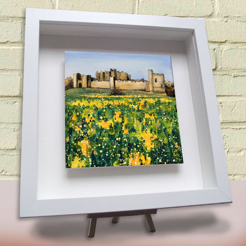 Framed ceramic tile Alnwick Castle