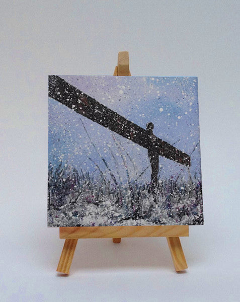 Ceramic tile with easel Angel of the North