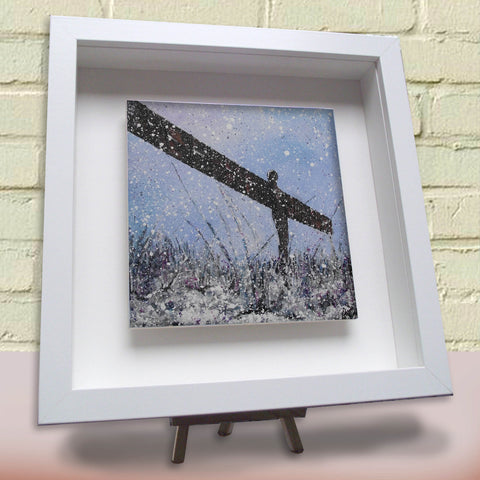 Framed ceramic tile Angel of the North