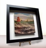 Framed ceramic tile Groyne Herd South Shields