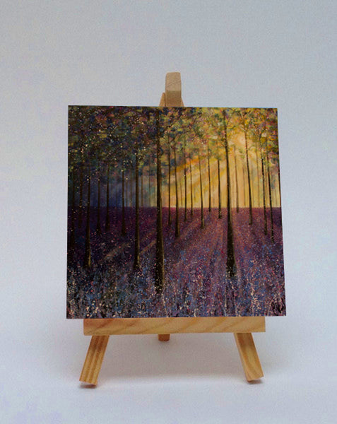 Ceramic tile with easel Bluebell Woods