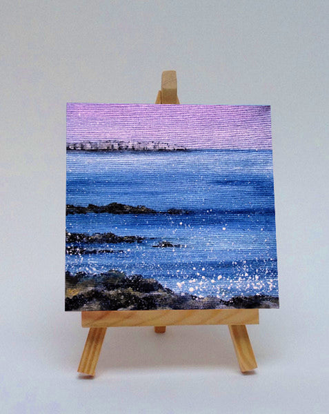 Ceramic tile with easel Farne Island Northumberland