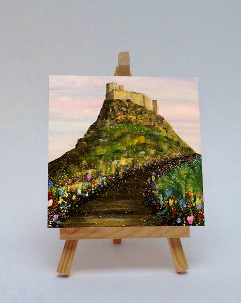 Ceramic tile with easel Holy Island 2