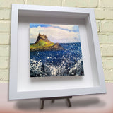 Framed ceramic tile Lindisfarne Northumberland