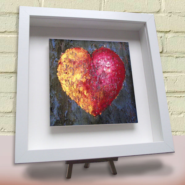 Framed ceramic tile Love Gold