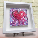 Framed ceramic tile Love Purple