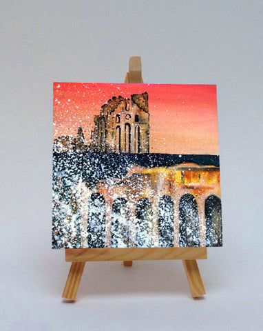 Ceramic tile with easel Proiry Castle Tynemouth