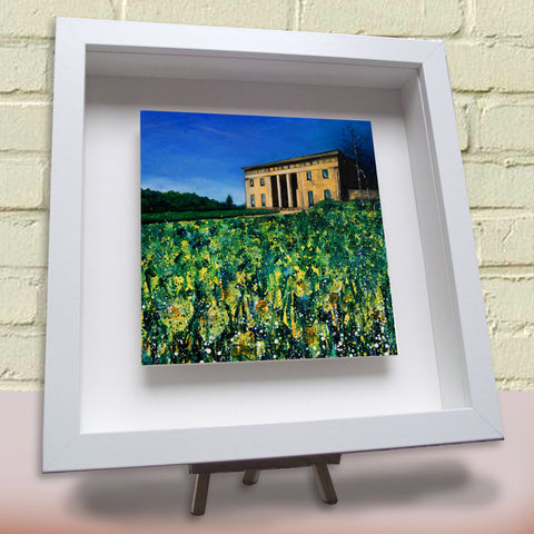 Framed ceramic tile Belsay Hall Northumberland