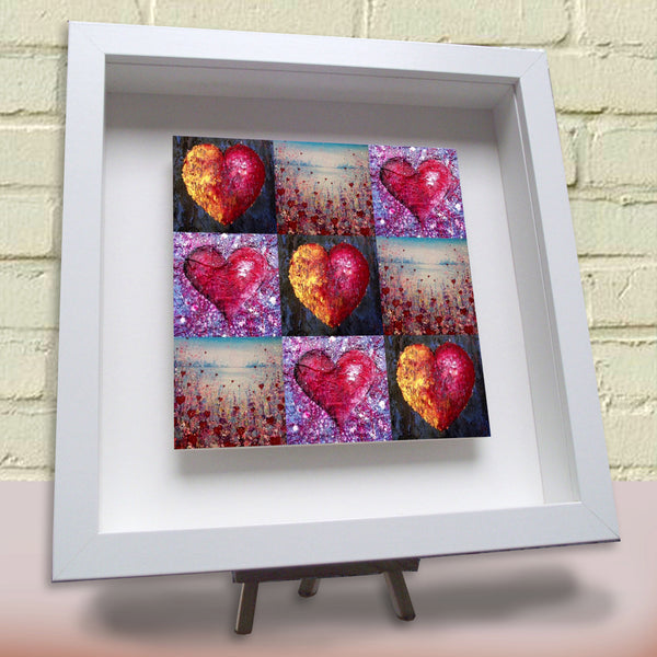 Framed ceramic tile Lots of Love