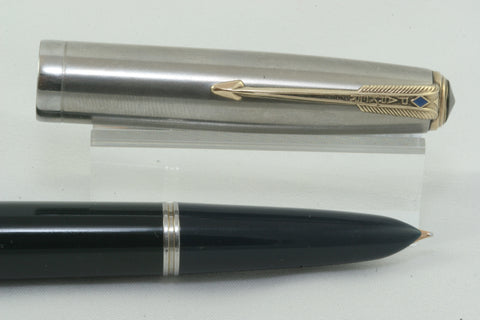 Parker 51 Vacumatic Cedar Blue - Fully Restored And Working