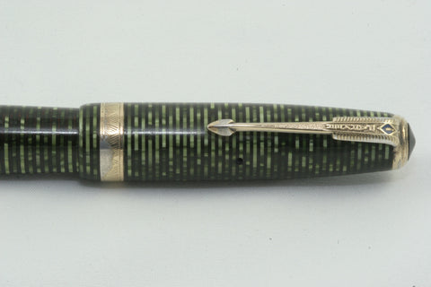 Parker Vacumatic ~ EMERALD GREEN STRIPED ~ NICE PEN! - Fully Restored And Working