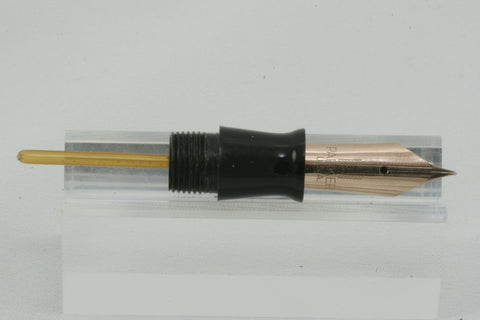 PARKER VACUMATIC ~ SILVER & BLACK STRIPE ~ FULLY CLEANED, RESTORED, WORKING & READY TO WRITE!