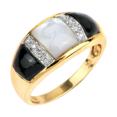 10K Yellow Gold Mother of Pearl