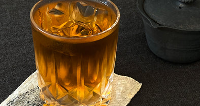 Iced Tea : Grains Leaves and Sticks