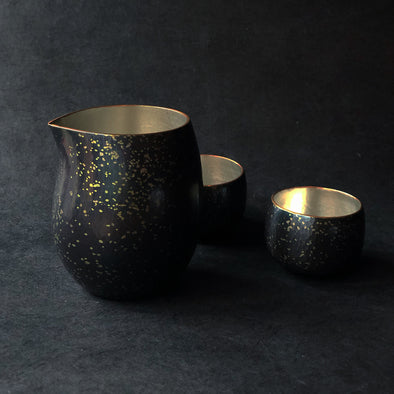 Chirashikin Speckled Sake Pitcher Tsuiki Copperware