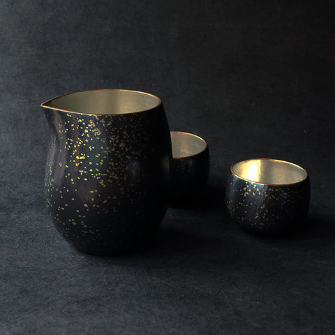 Chirashikin Speckled Sake Pitcher Tsuiki Copperware | inquire for pricing