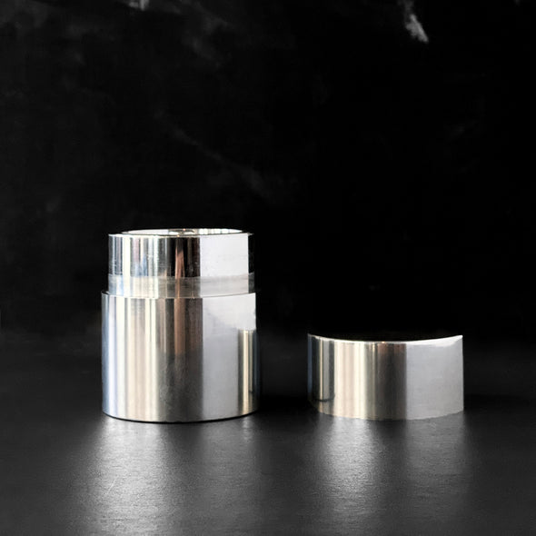 Seamless Pewter Matcha Natsume Canister