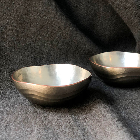 Crescent Wave Sake Cup Tsuiki Copperware | inquire for pricing