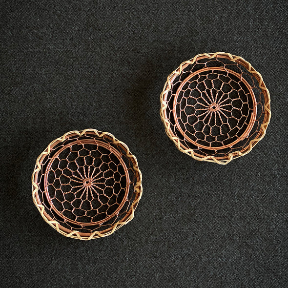 Hand made Copper Bamboo Coaster