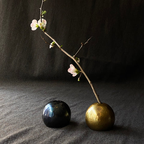 Orb Flower Vase Sunrays Tsuiki Copperware