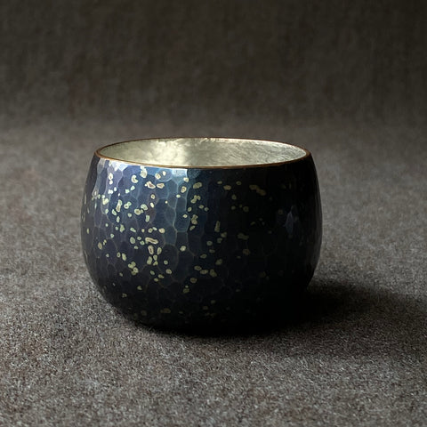 Chirashikin Speckled Sake Cup Tsuiki Copperware | inquire for pricing