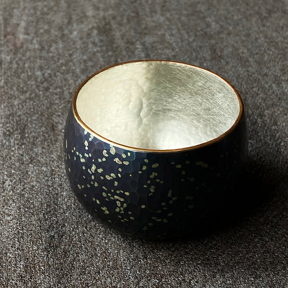 Chirashikin Speckled Sake Cup Tsuiki Copperware