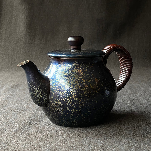 Speckled Back Handle Teapot Tsuiki Copperware