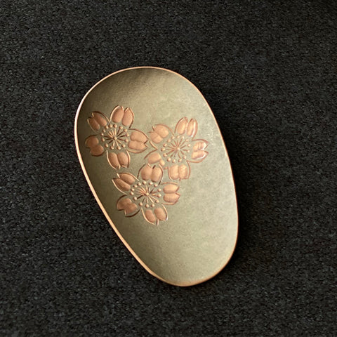 Hand-Hammered Tea Scoops Sakura Tsuiki Copperware