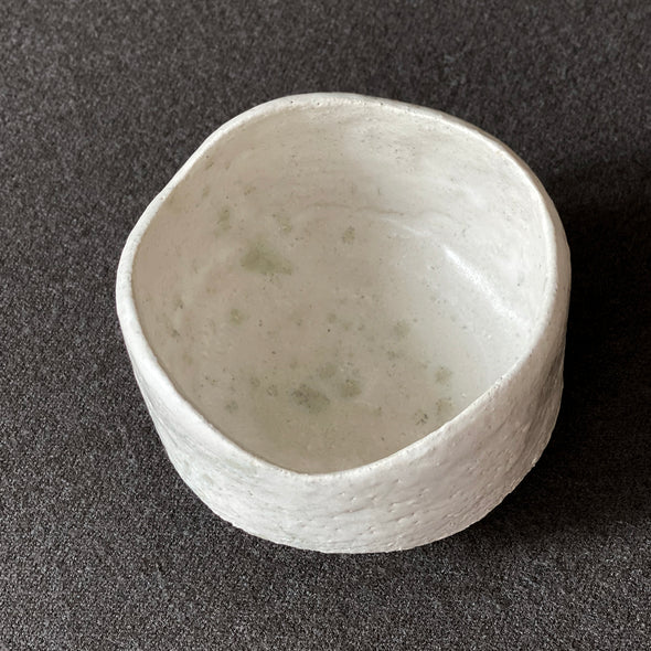 Matte White Wave Chawan A4