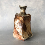 Iga Shinogi Tokkuri Sake Vessel Red
