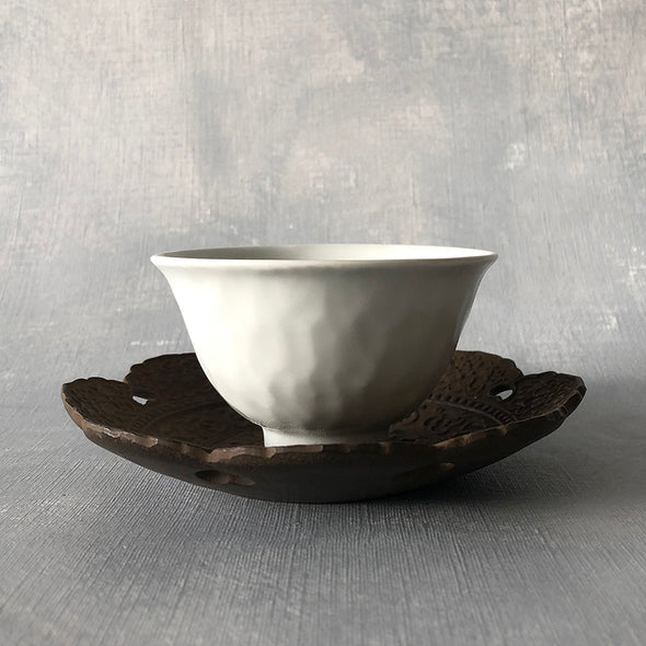 Cast Iron Teacup Tengai Saucer