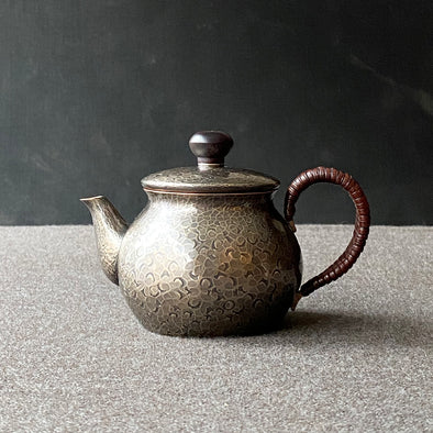 Smokey Silver Back Handle Teapot Small Tsuiki Copperware