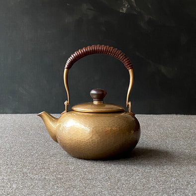 Coppertone Flat Teapot Small Tsuiki Copperware
