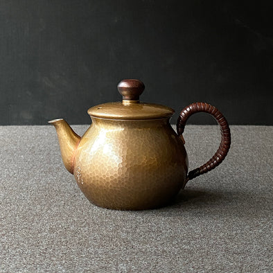 Coppertone Back Handle Teapot Small Tsuiki Copperware
