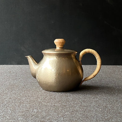 Silver Back Handle Teapot Small Tsuiki Copperware
