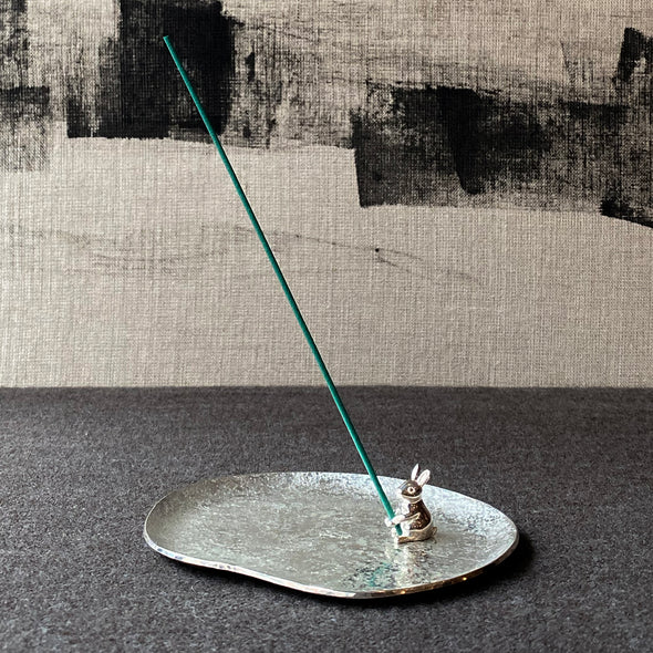 Rabbit Silver Incense Stand