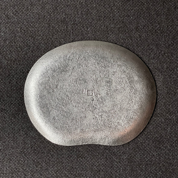 Bean Shape Grain Hammer Pewter Plate