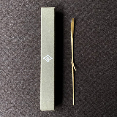 Bamboo Motif Tea Pick Brass