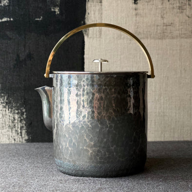 Smoked Brass Zundo Water Kettle