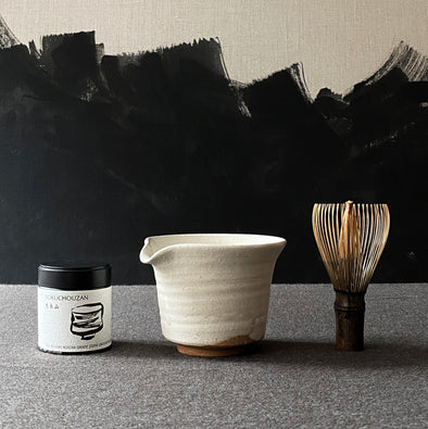 Spouted Matcha Bowl White Set