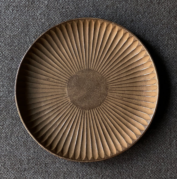 Cast Iron Chrysanthemum Plate