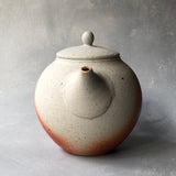 Mashiko Matte Scorched Back Handle Teapot #10